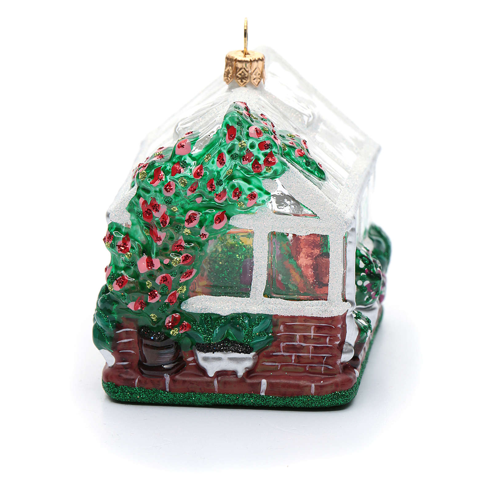 Viveiro vidro soprado adorno árvore Natal 4
