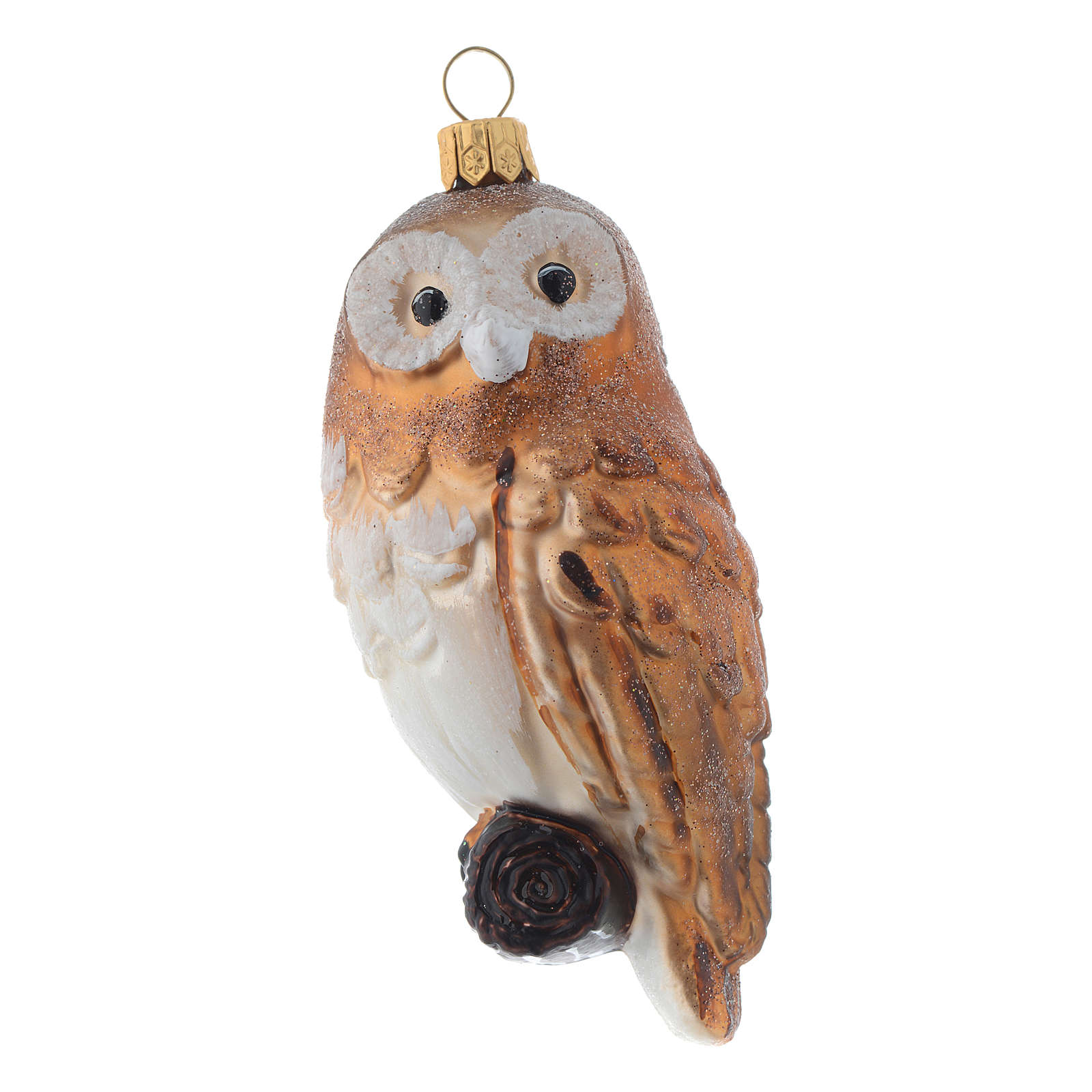 Blown glass Christmas ornament, owl 4