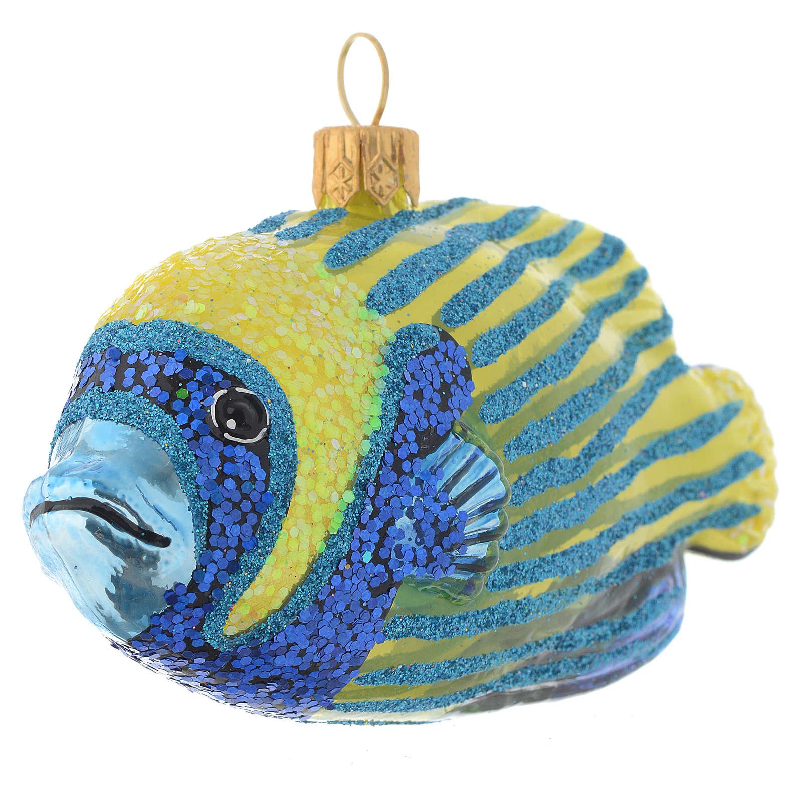 Ange de mer impérial décor verre soufflé sapin Noël 4