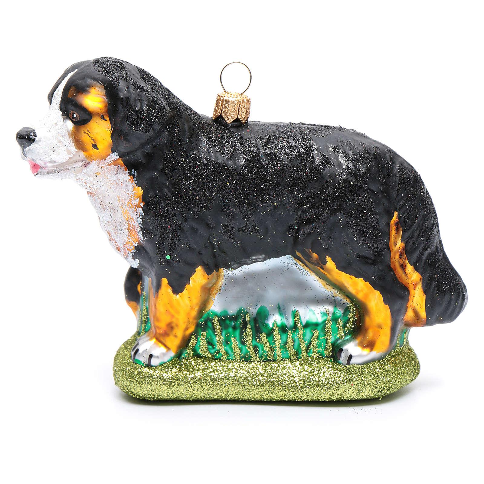 Berner Sennenhund mundgeblasenen Glas für Tannenbaum 4