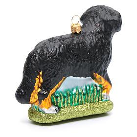 Blown glass Christmas ornament, Bernese Mountain dog s3