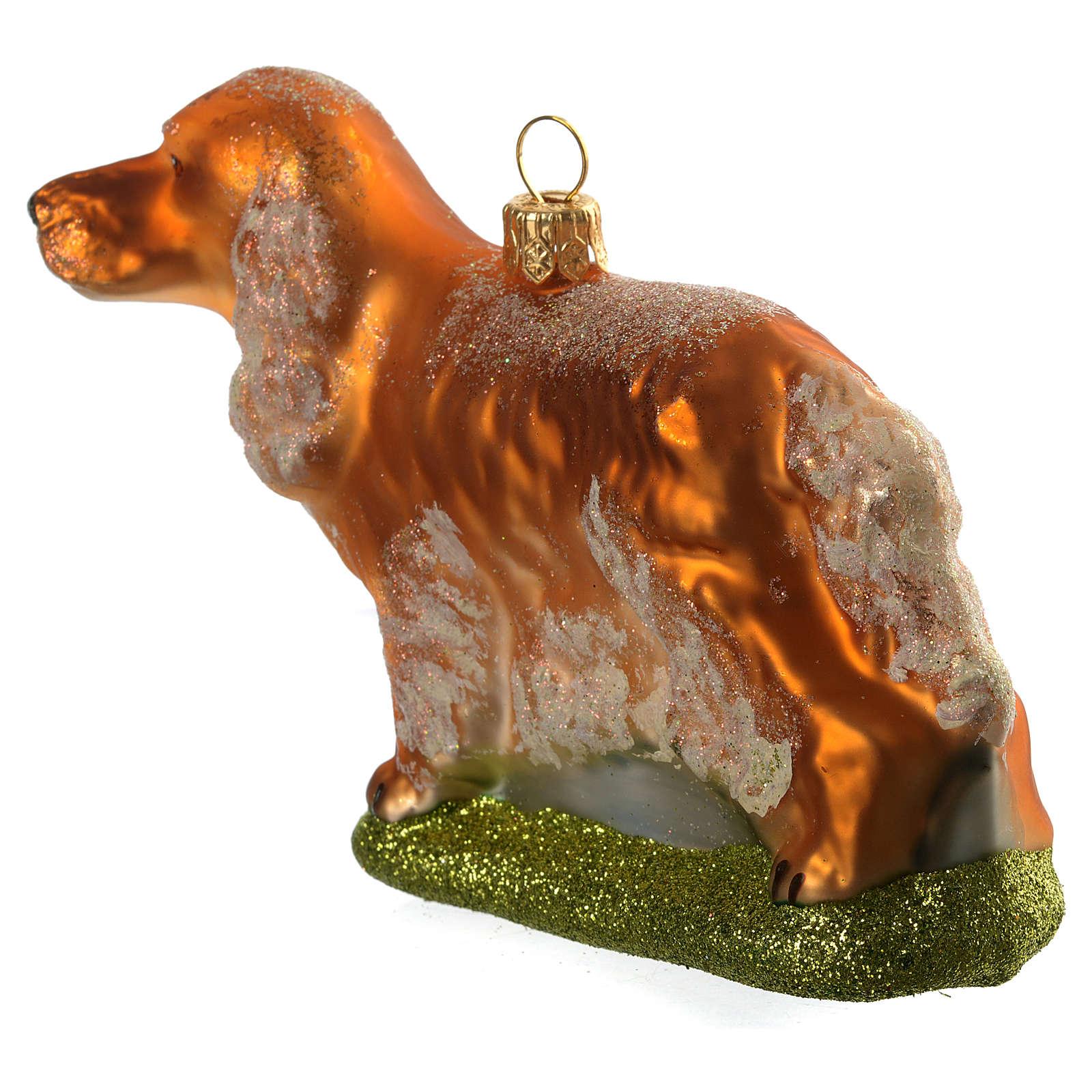 Perro Cocker adorno vidrio soplado Árbol de Navidad 4