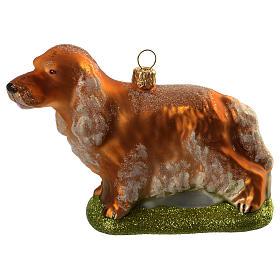 Perro Cocker adorno vidrio soplado Árbol de Navidad s1