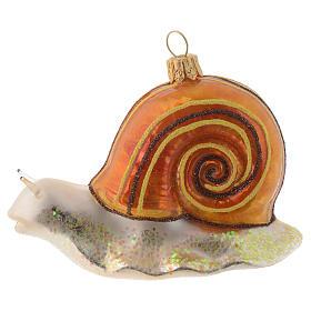 Lumaca decorazione vetro soffiato Albero Natale s1