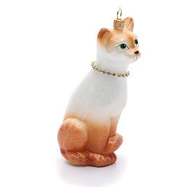Gato Oriental adorno vidrio soplado para Árbol de Navidad s4