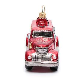 Camión de Bomberos adorno vidrio soplado para Árbol de Navidad s4