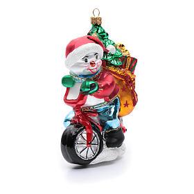 Pupazzo di neve con doni addobbo vetro soffiato Albero Natale s4