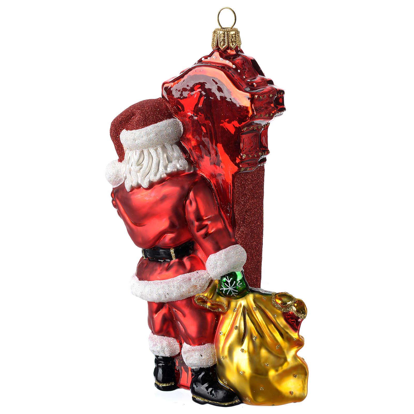 Babbo Natale a Chicago addobbo vetro soffiato Albero Natale 4