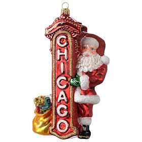 Babbo Natale a Chicago addobbo vetro soffiato Albero Natale s1