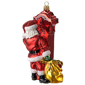 Babbo Natale a Chicago addobbo vetro soffiato Albero Natale s4
