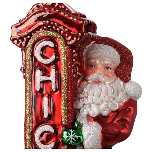 Babbo Natale a Chicago addobbo vetro soffiato Albero Natale 2