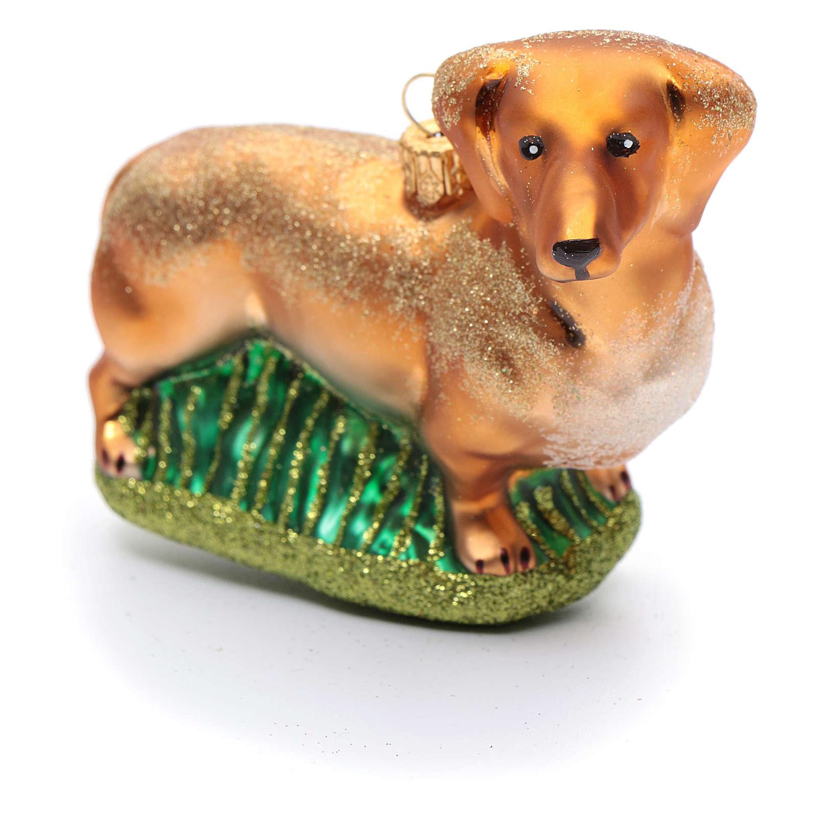 Basset Hound adorno vidrio soplado Árbol de Navidad 4