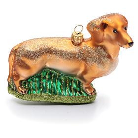 Basset Hound adorno vidrio soplado Árbol de Navidad s1