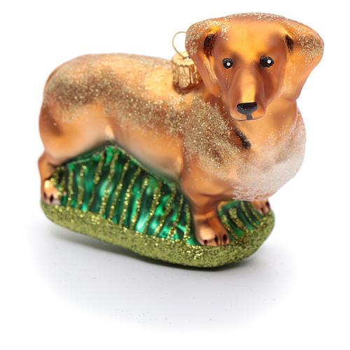 Basset Hound adorno vidrio soplado Árbol de Navidad 2
