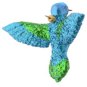 Blown glass Christmas ornament, hummingbird s2
