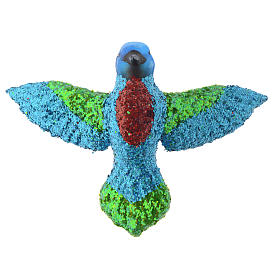 Blown glass Christmas ornament, hummingbird s3