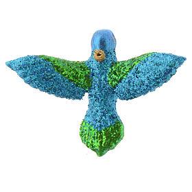 Blown glass Christmas ornament, hummingbird s4