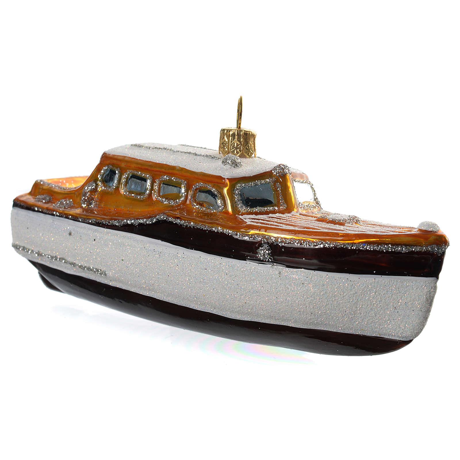 Yacht decorazione vetro soffiato Albero Natale 4