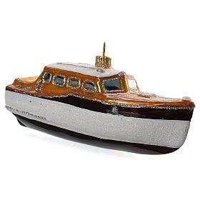 Yacht decorazione vetro soffiato Albero Natale s2