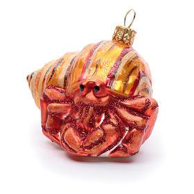 Cangrejo ermitaño adorno vidrio soplado Árbol de Navidad s2