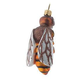 Décoration sapin Noël verre soufflé abeille s3