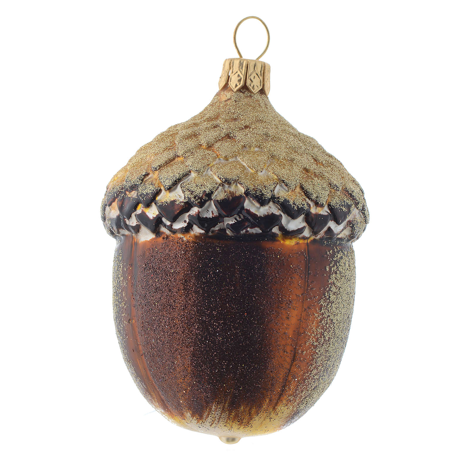 Blown glass Christmas ornament, acorn | online sales on ...
