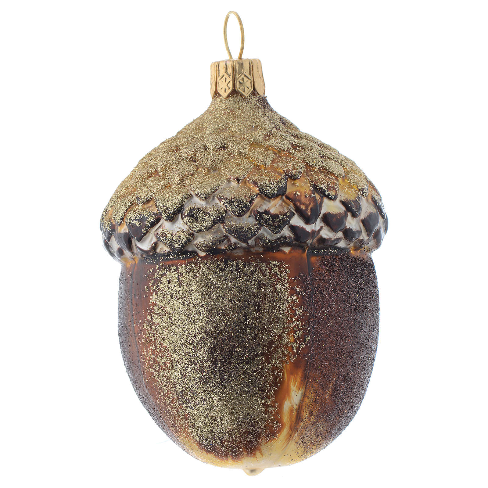 Blown glass Christmas ornament, acorn 4