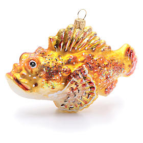 Blown glass Christmas ornament, red lionfish s3