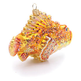 Blown glass Christmas ornament, red lionfish s4