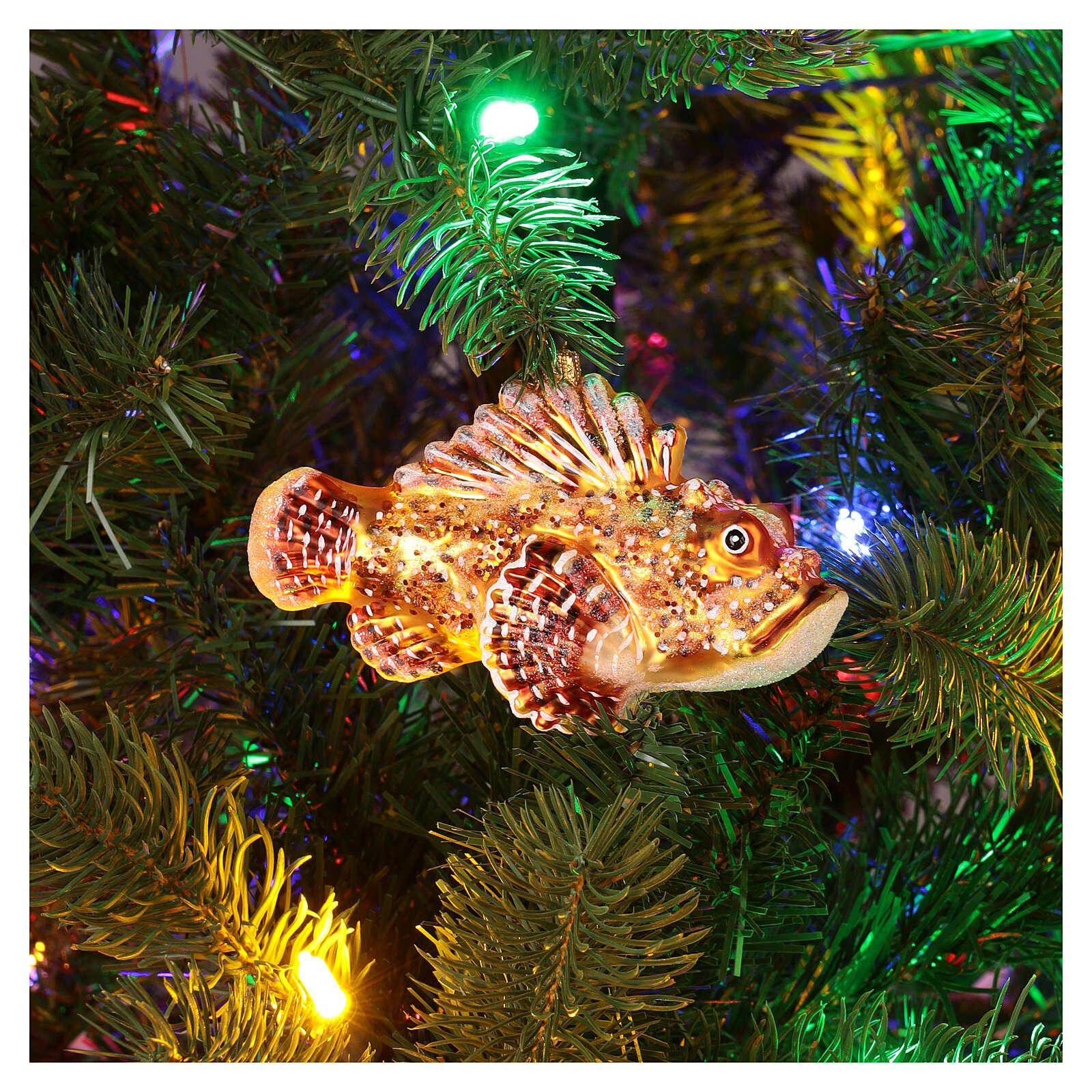 Décoration pour sapin Noël verre soufflé rascasse volante 4