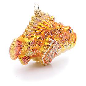 Pesce scorpione decorazione vetro soffiato Albero Natale s4