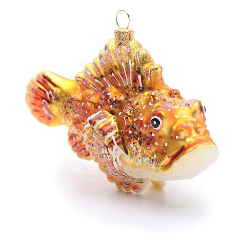 Pesce scorpione decorazione vetro soffiato Albero Natale 2
