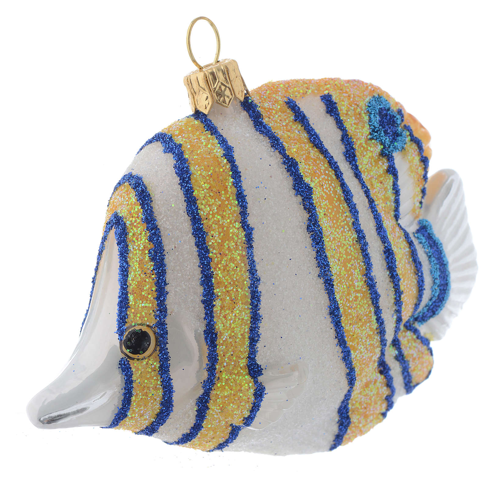 Blown glass Christmas ornament, butterflyfish 4