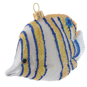 Blown glass Christmas ornament, butterflyfish s2