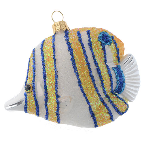 Blown glass Christmas ornament, butterflyfish 1