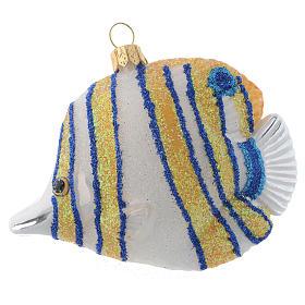 Blown glass Christmas ornament, butterflyfish s1