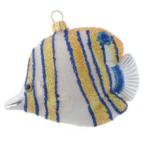 Blown glass Christmas ornament, butterflyfish 1
