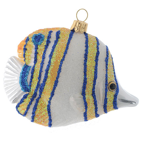 Blown glass Christmas ornament, butterflyfish 3