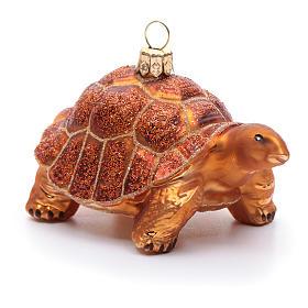 Tartaruga delle Galapagos decoro Albero Natale vetro soffiato s2