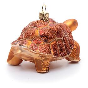 Tartaruga delle Galapagos decoro Albero Natale vetro soffiato s4