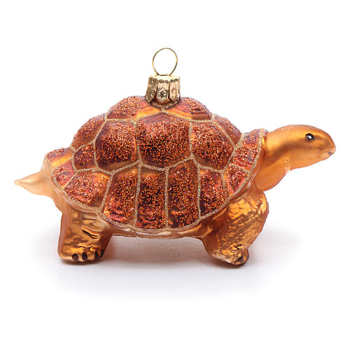Blown glass Christmas ornament, Galápagos tortoise 1