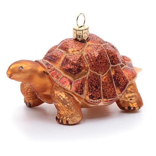 Blown glass Christmas ornament, Galápagos tortoise 3