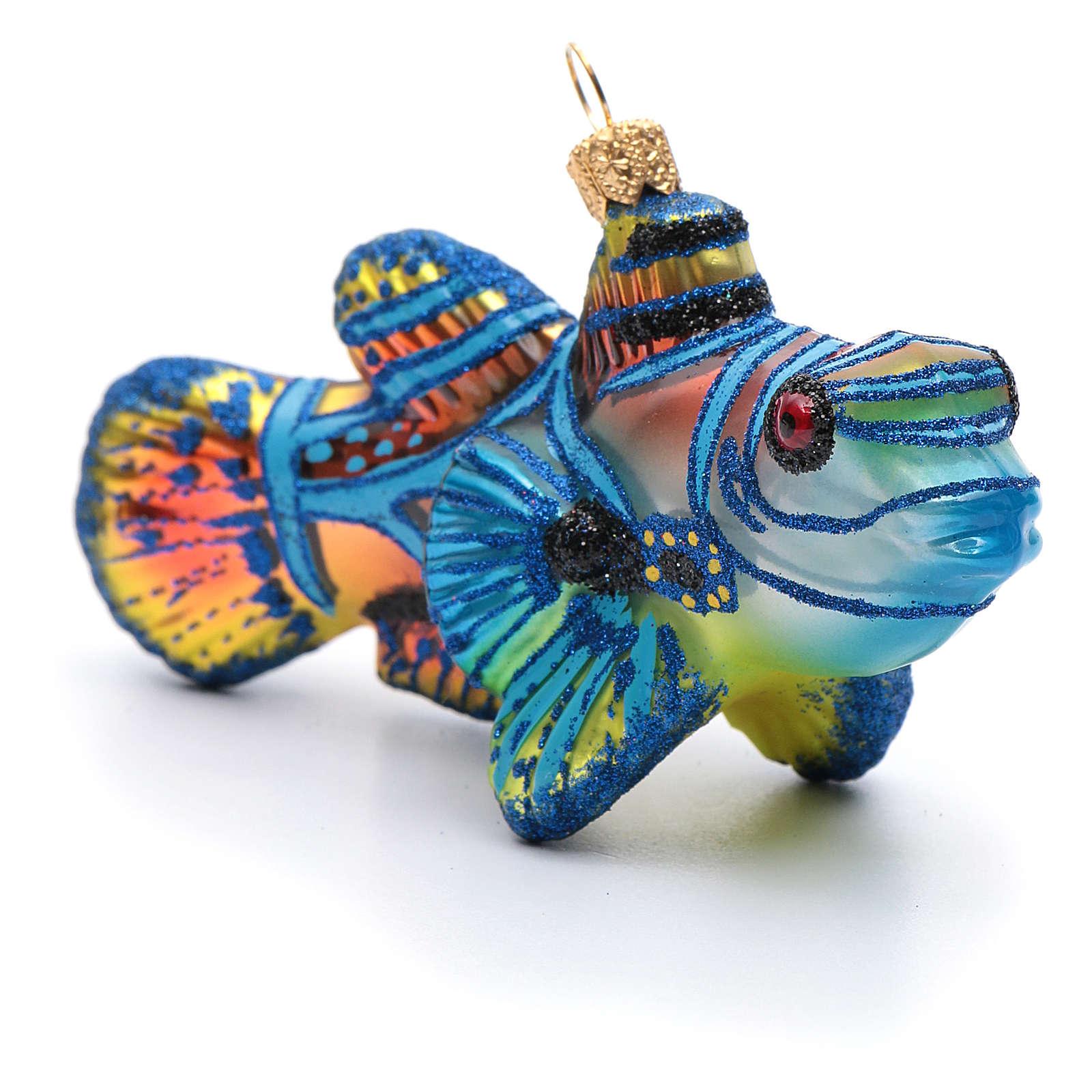 Blown glass Christmas ornament, mandarinfish 4