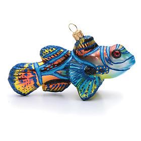 Blown glass Christmas ornament, mandarinfish s1
