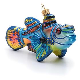 Blown glass Christmas ornament, mandarinfish s2