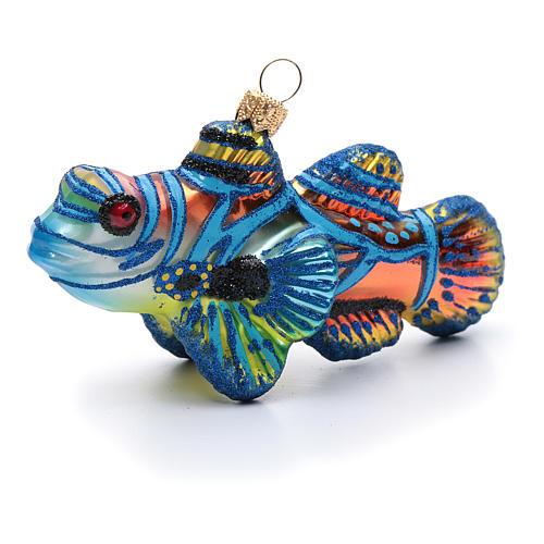 Blown glass Christmas ornament, mandarinfish 3