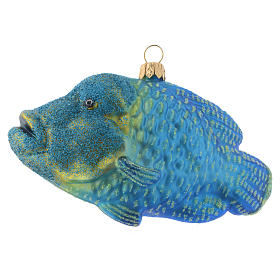 Blown glass Christmas ornament, humphead wrasse s1