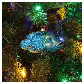 Décoration pour sapin de Noël verre soufflé poisson napoléon s2