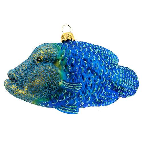 Décoration pour sapin de Noël verre soufflé poisson napoléon 1