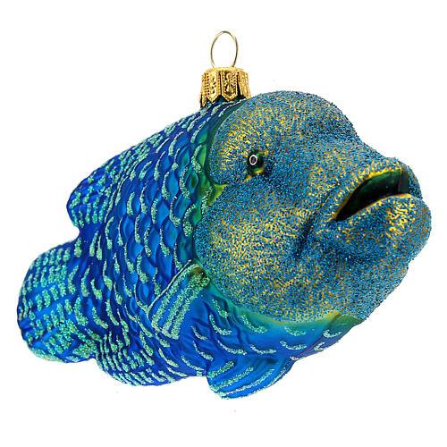 Décoration pour sapin de Noël verre soufflé poisson napoléon 4